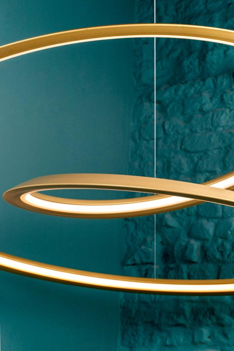 For Sale: Gold Nemo Kepler Downlight LED 3000K Dimmable Pendant Lamp by Arihiro Miyake 3
