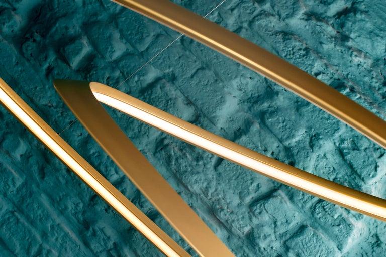 For Sale: Gold Nemo Kepler Downlight LED 3000K Dimmable Pendant Lamp by Arihiro Miyake 5