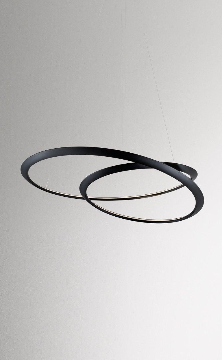 For Sale: Black Nemo Kepler Uplight LED 3000K Dimmable Pendant Lamp by Arihiro Miyake 2