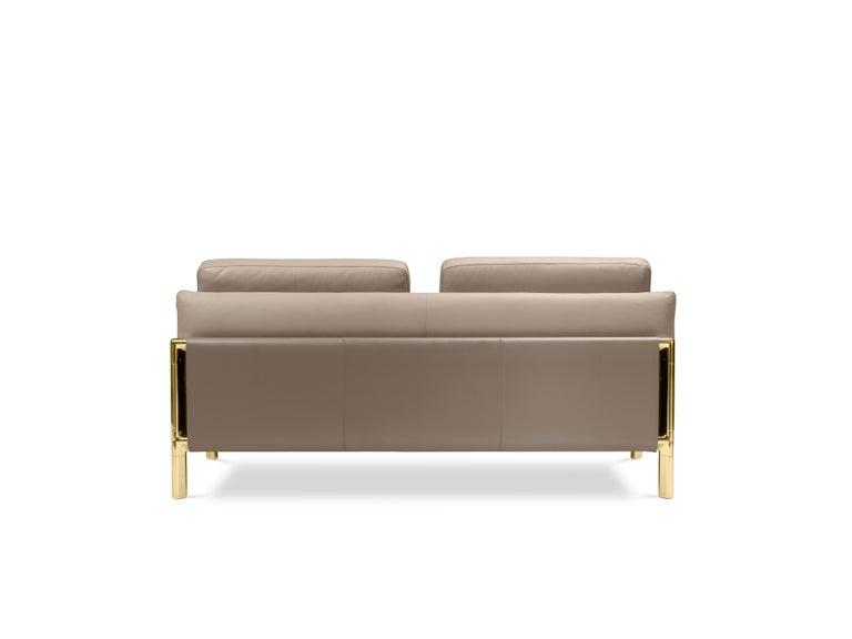 For Sale: Brown (Tortora) Ghidini 1961 Frame Sofa in Cuoio Leather by Stefano Giovannoni 3