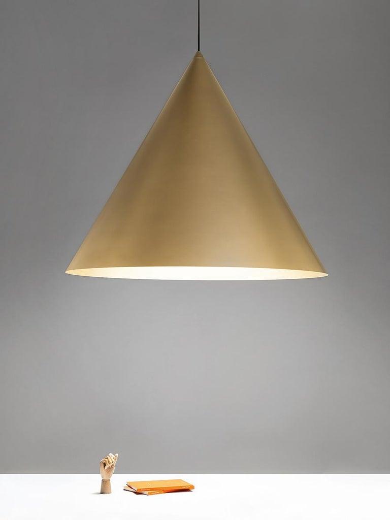 For Sale: Gold (GO — Gold) Firmamento Milano Large Cono Pendant by Carlo Guglielmi 2