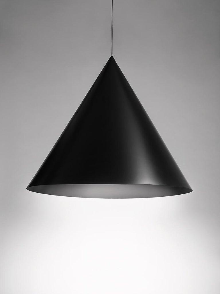 For Sale: Black (BL — Black) Firmamento Milano Large Cono Pendant by Carlo Guglielmi 2