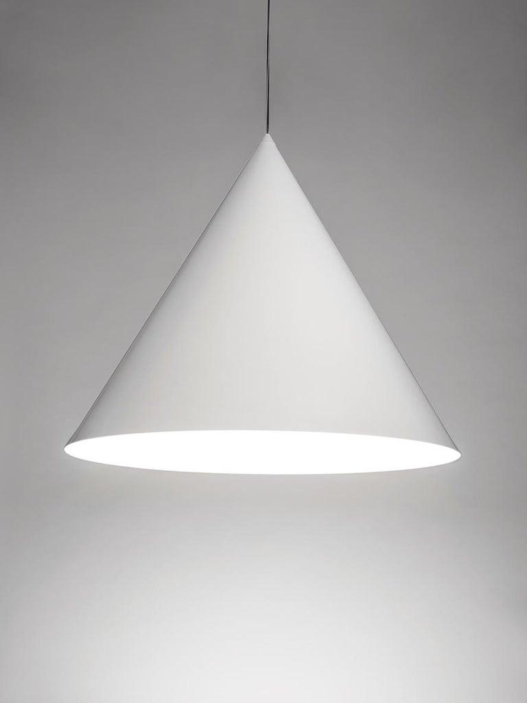For Sale: White (WH — White) Firmamento Milano Medium Cono Pendant by Carlo Guglielmi 2