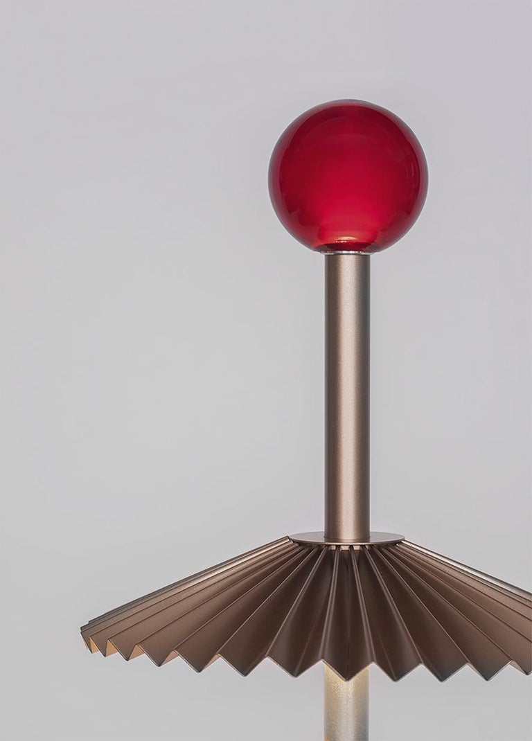 For Sale: Beige (BR — Bronze) Firmamento Milano Etoile Rechargeable Table Lamp by Daniela Puppa 2