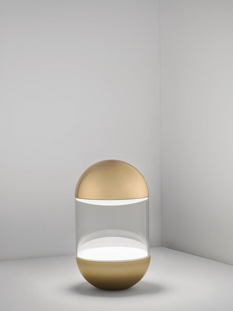 For Sale: Gold (GO — Gold) Firmamento Milano Pillola Table Lamp by Parisotto and Formenton Architetti 2