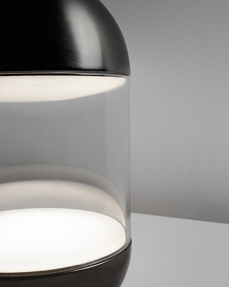 For Sale: Black (NIBL — Nickel Black) Firmamento Milano Pillola Table Lamp by Parisotto and Formenton Architetti 2