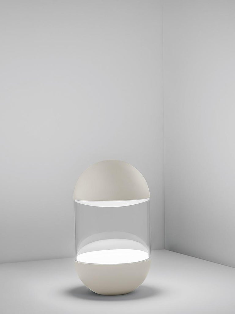 For Sale: Silver (NI — Nickel) Firmamento Milano Pillola Table Lamp by Parisotto and Formenton Architetti