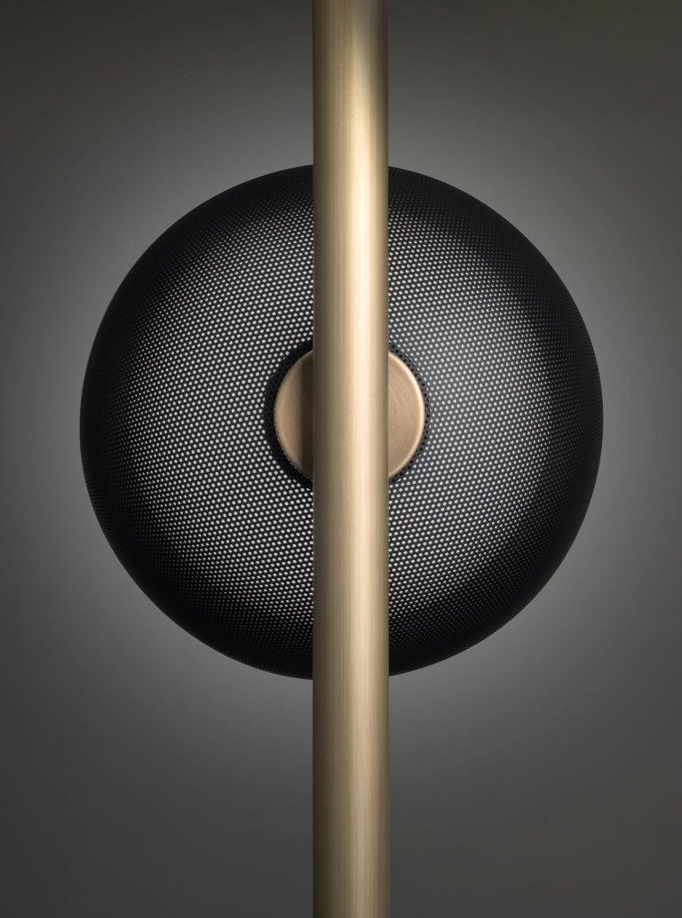For Sale: Gray (Matte Black Nickel) VeniceM Urban Pendant Light 3 in Light Burnished Brass by Massimo Tonetto 2