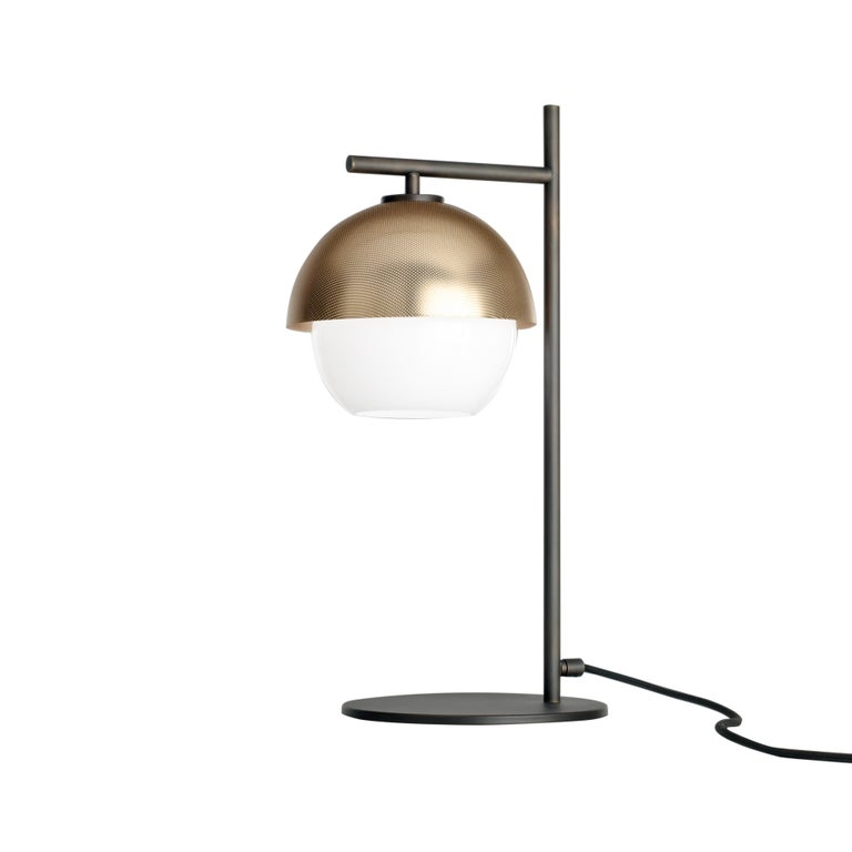 For Sale: Gold (Polished Gold) VeniceM Urban Table Light in Dark Burnished Brass by Massimo Tonetto 2