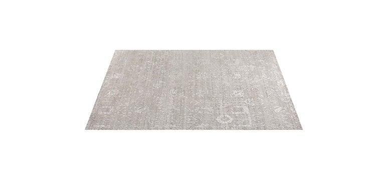 For Sale: Silver (Abra Fog) Ben Soleimani Abra Rug 10'x14' 2
