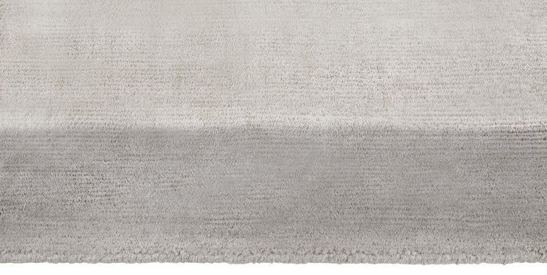 For Sale: Gray (Silka Marca Dark Grey) Ben Soleimani Silk Marca Rug– Handwoven Sheen Soft Dark Gray 10'x14' 3
