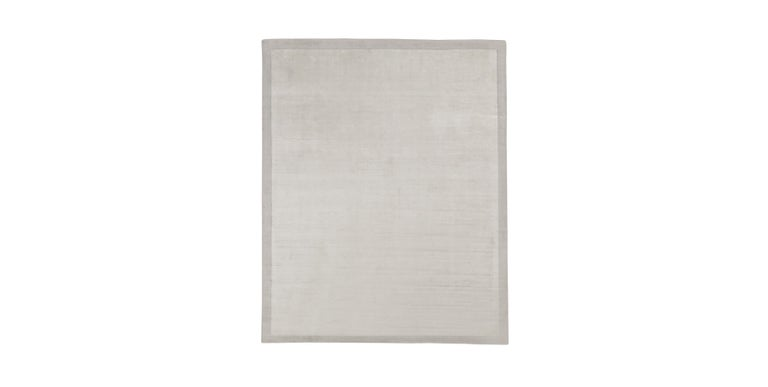 For Sale: Silver (Silk Marca Silver) Ben Soleimani Silk Marca Rug– Handwoven Sheen Soft Dark Gray 10'x14'