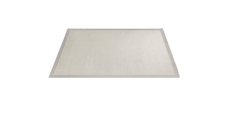 For Sale: Silver (Silk Marca Silver) Ben Soleimani Silk Marca Rug– Handwoven Sheen Soft Dark Gray 10'x14' 2