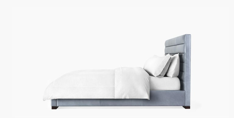 For Sale: Gray (Refined Saddle Pewter) Ben Soleimani Hayworth King Sized Bed 2
