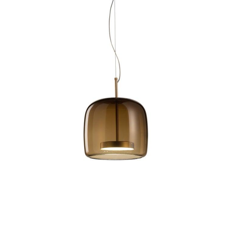 For Sale: Brown (Burned Earth) Vistosi Led Jube Sp 1 P Suspension Light by Favaretto&Partners