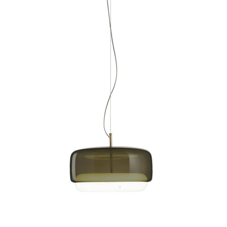 For Sale: Green (Old Green and White) Vistosi LED Jube SP G Suspension Light by Favaretto&Partners
