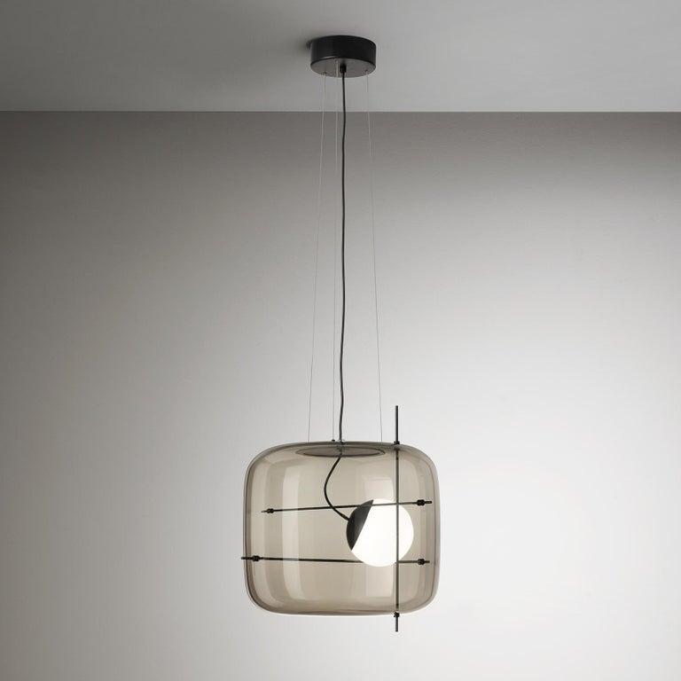 For Sale: White (Smoky and Black) Vistosi LED Plot SP Suspension Light by Chiaramonte & Marin 2