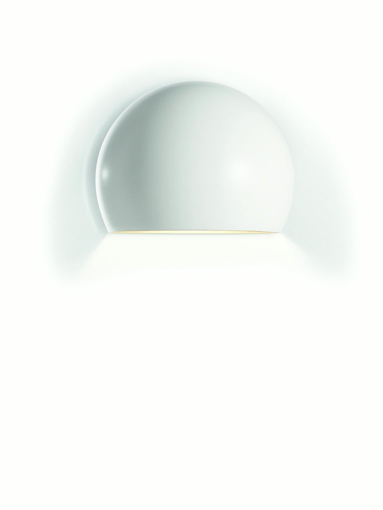 For Sale: White Opinion Ciatti LAlampada Large Wall Sconce