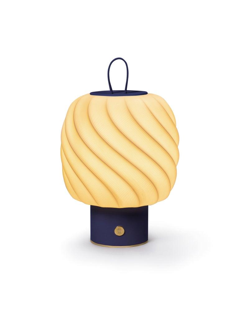 For Sale: Blue Lladro Medium Ice Cream Portable Lamp