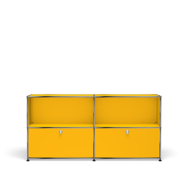 For Sale: Yellow (Golden Yellow) USM Haller Credenza C2A Storage System