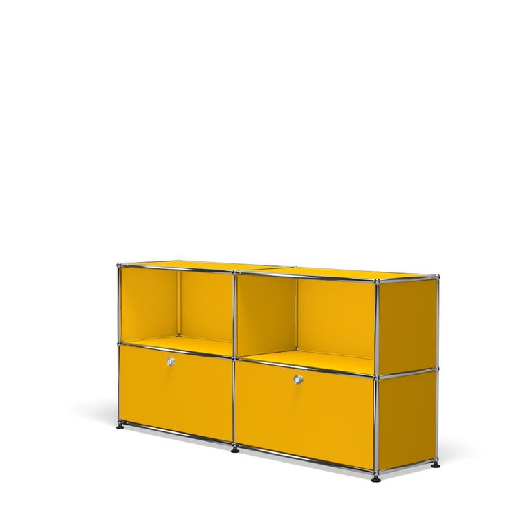 For Sale: Yellow (Golden Yellow) USM Haller Credenza C2A Storage System 2