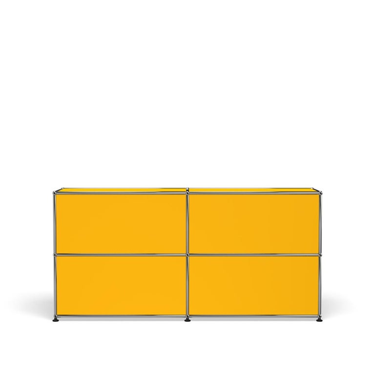For Sale: Yellow (Golden Yellow) USM Haller Credenza C2A Storage System 4