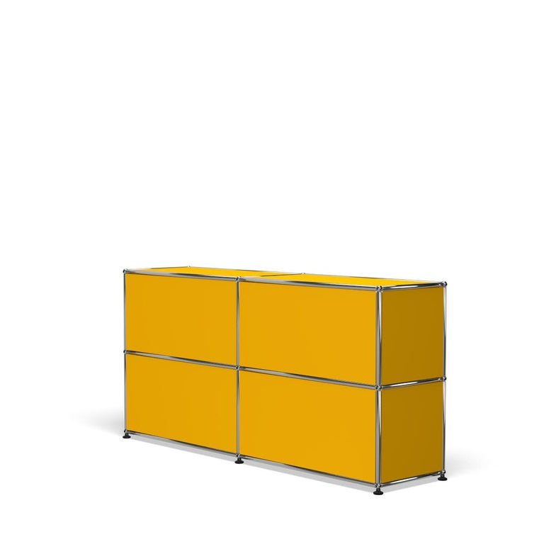 For Sale: Yellow (Golden Yellow) USM Haller Credenza C2A Storage System 5