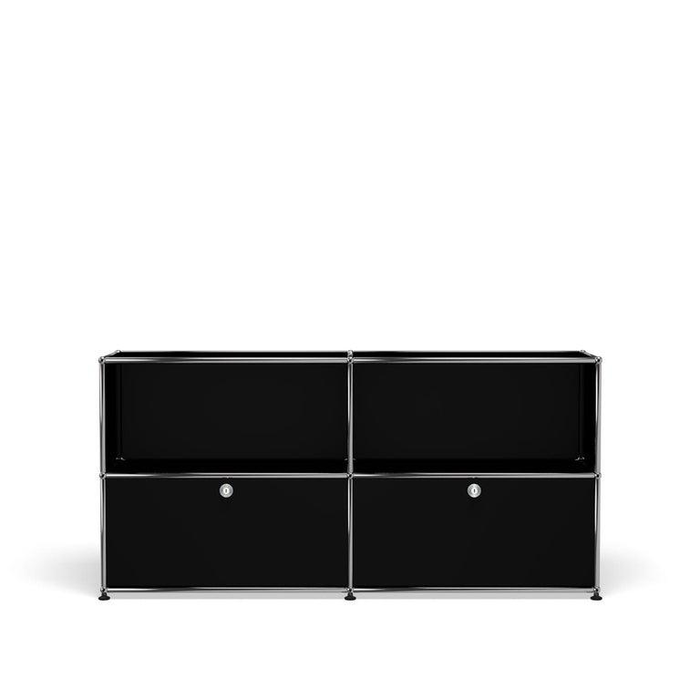 For Sale: Black (Graphite Black) USM Haller Credenza C2A Storage System