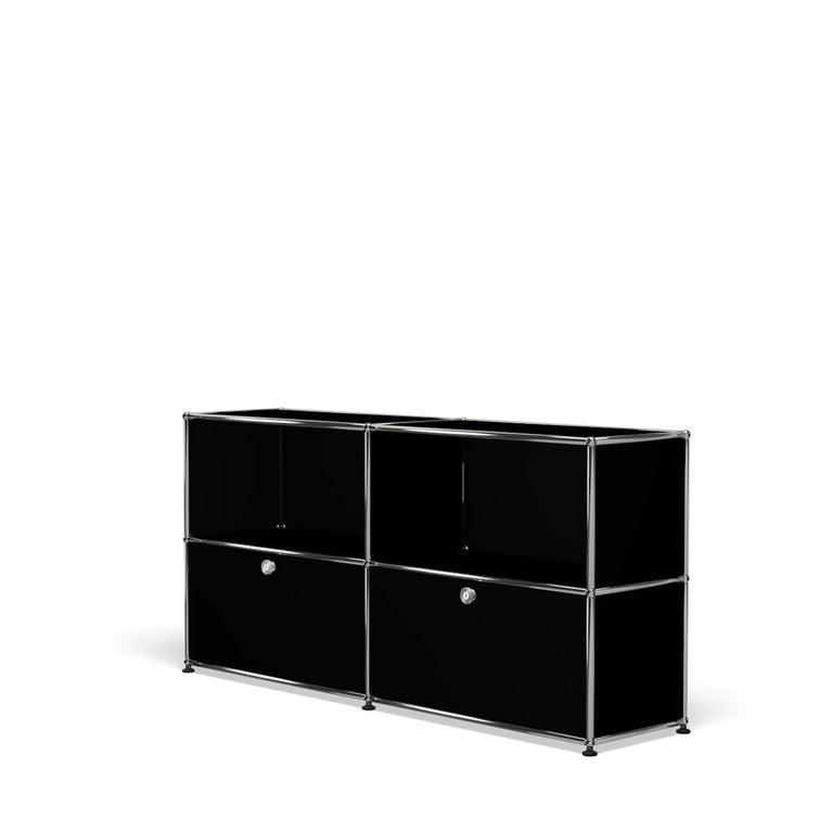 For Sale: Black (Graphite Black) USM Haller Credenza C2A Storage System 2