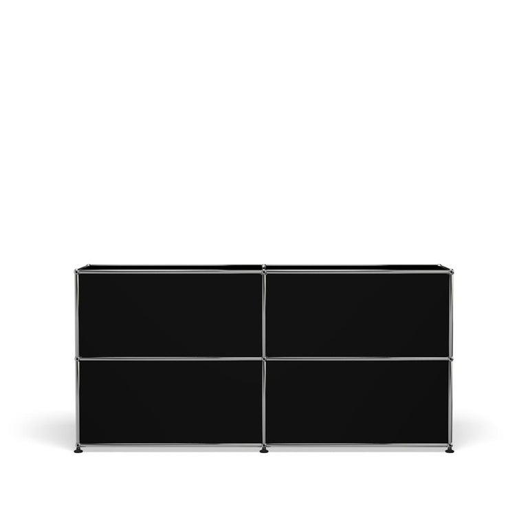 For Sale: Black (Graphite Black) USM Haller Credenza C2A Storage System 4
