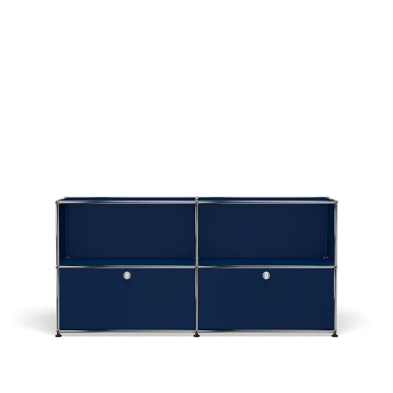 For Sale: Blue (Steel Blue) USM Haller Credenza C2A Storage System