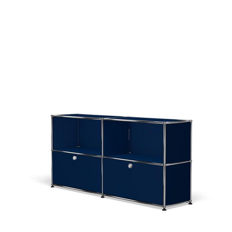 For Sale: Blue (Steel Blue) USM Haller Credenza C2A Storage System 2
