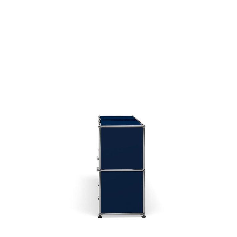 For Sale: Blue (Steel Blue) USM Haller Credenza C2A Storage System 3