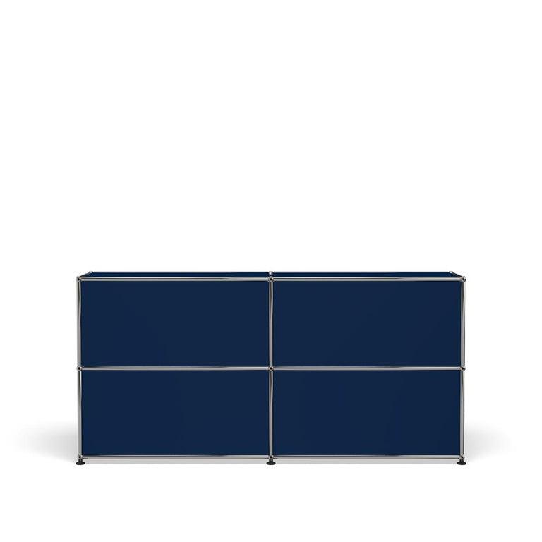 For Sale: Blue (Steel Blue) USM Haller Credenza C2A Storage System 4