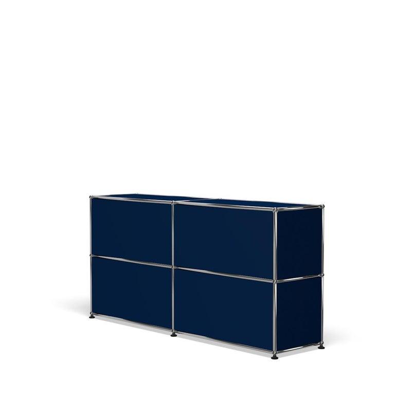 For Sale: Blue (Steel Blue) USM Haller Credenza C2A Storage System 5