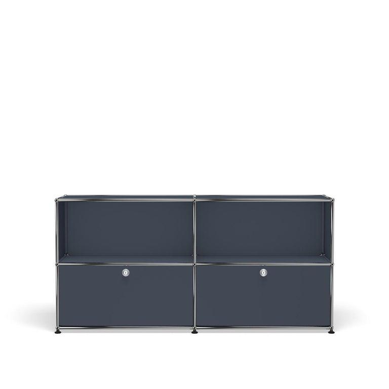 For Sale: Gray (Anthracite) USM Haller Credenza C2A Storage System