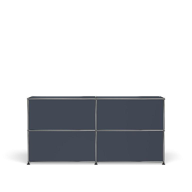 For Sale: Gray (Anthracite) USM Haller Credenza C2A Storage System 4