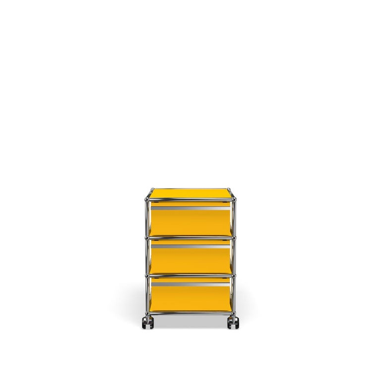 For Sale: Yellow (Golden Yellow) USM Haller Pedestal V Storage System