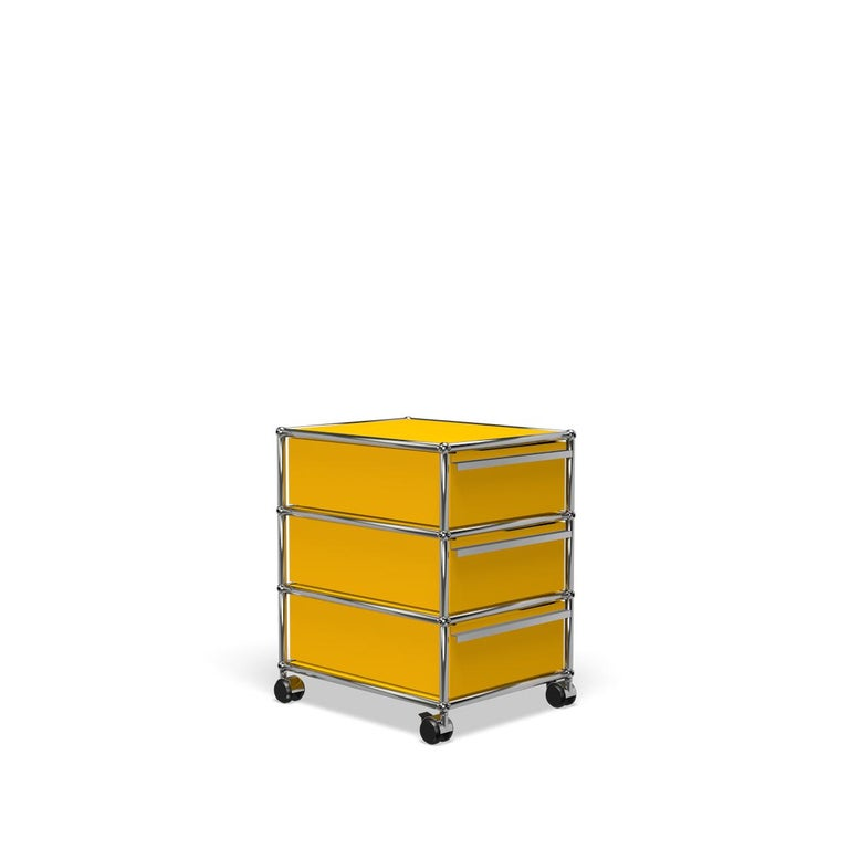 For Sale: Yellow (Golden Yellow) USM Haller Pedestal V Storage System 2