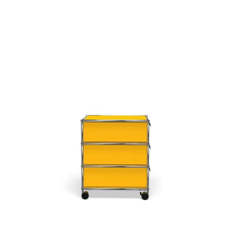 For Sale: Yellow (Golden Yellow) USM Haller Pedestal V Storage System 3