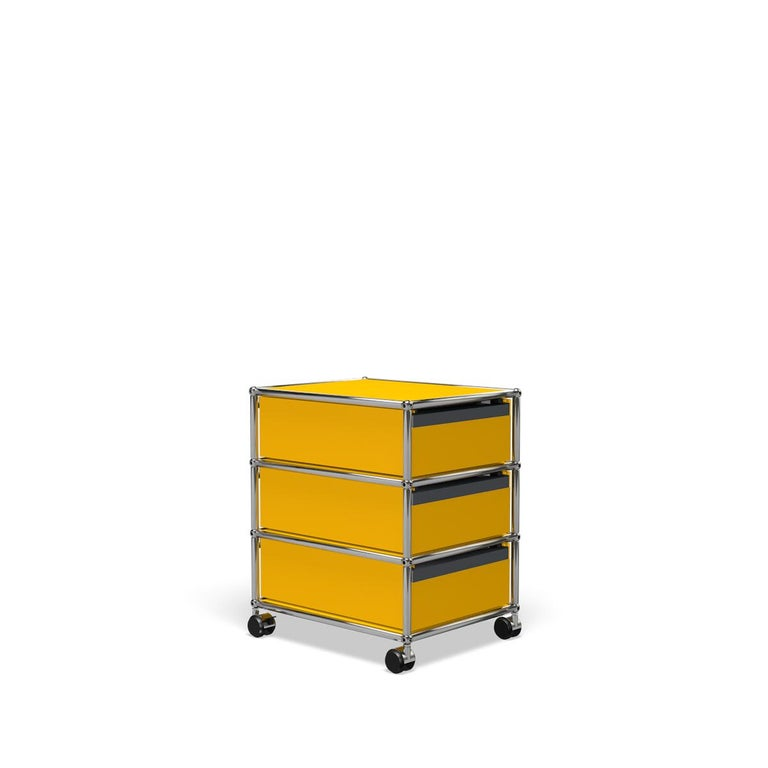 For Sale: Yellow (Golden Yellow) USM Haller Pedestal V Storage System 5