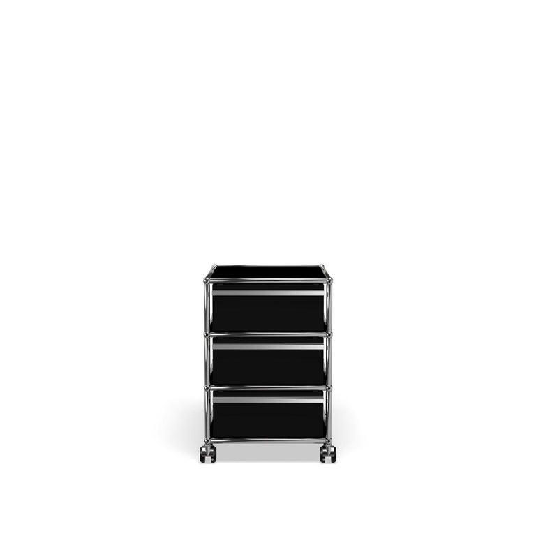 For Sale: Black (Graphite Black) USM Haller Pedestal V Storage System