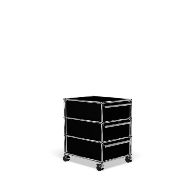 For Sale: Black (Graphite Black) USM Haller Pedestal V Storage System 2