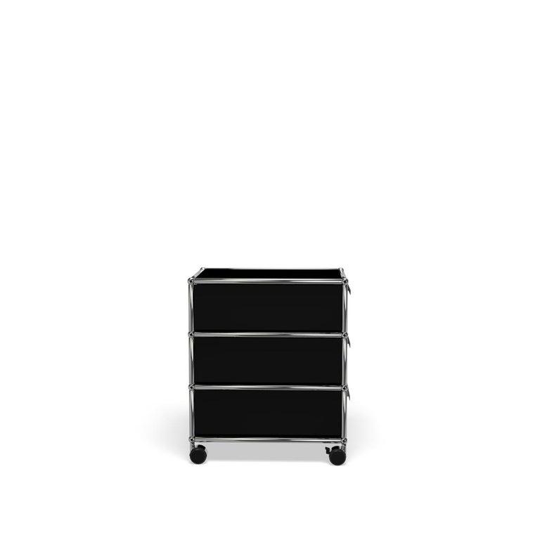 For Sale: Black (Graphite Black) USM Haller Pedestal V Storage System 3