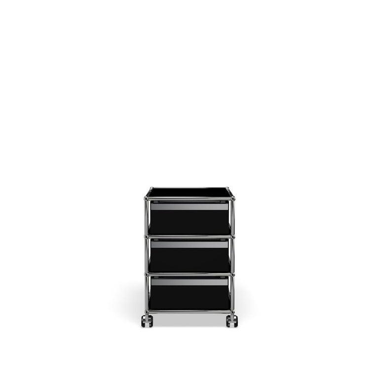 For Sale: Black (Graphite Black) USM Haller Pedestal V Storage System 4