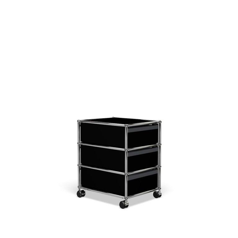 For Sale: Black (Graphite Black) USM Haller Pedestal V Storage System 5