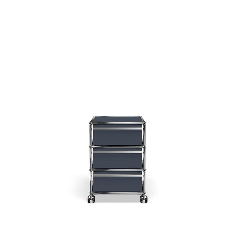 For Sale: Gray (Anthracite) USM Haller Pedestal V Storage System