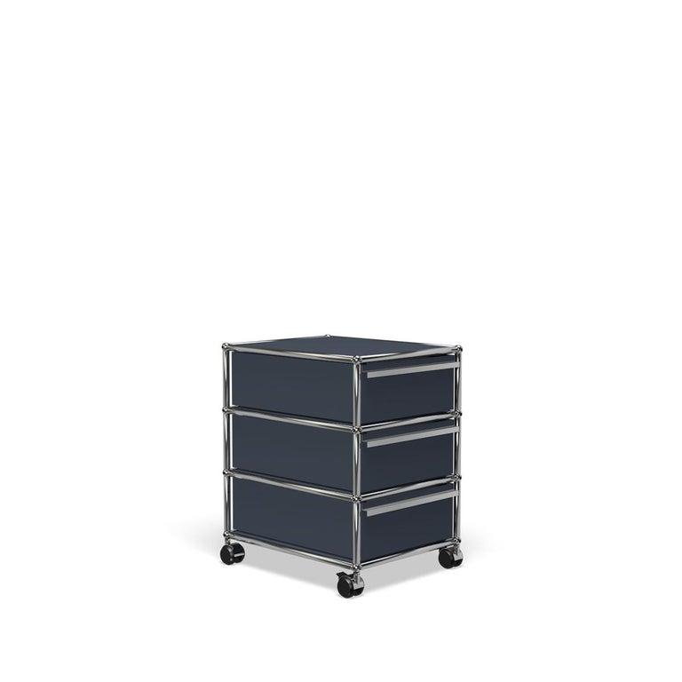 For Sale: Gray (Anthracite) USM Haller Pedestal V Storage System 2