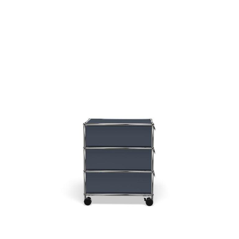 For Sale: Gray (Anthracite) USM Haller Pedestal V Storage System 3
