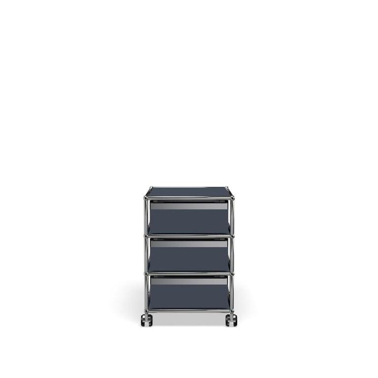 For Sale: Gray (Anthracite) USM Haller Pedestal V Storage System 4